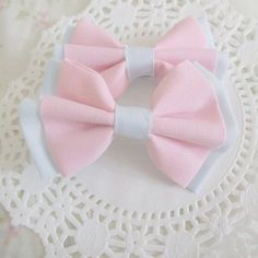 these are the nice, dressy bows. I don't wear these when I'm... ya know... hitting people with an ace.