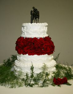 Cowboy/Cowgirl Wedding Cake