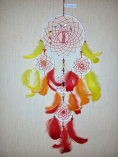 Diy red dreamcatcher sold! www.asiczary.pl