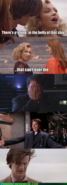 lol It would have been so funny if it really was jack in the ship.  They NEED to re do this episode and have it be Jack and not a weeping angle.