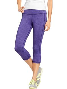Love these super-affordable Old Navy Women's Active By Compression Capris in Purple.