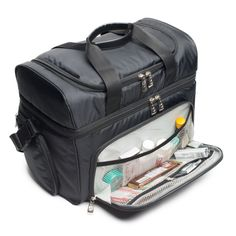 Lunch Box Cooler Storage Compartments Shoulder Strap Insulation Zipper Bags Handbags Riding Habit