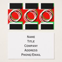 Colorful Squares & Circles 4Julian Business Card - individual customized unique ideas designs custom gift ideas