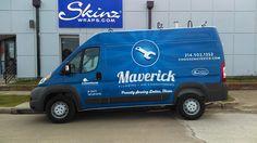 Mercedes Sprinter wrapped for the Maverick Plumbing fleet, Dallas, TX Van Wrap, Mercedes Sprinter, Custom Vinyl, Plumbing, Dallas, Texas, Wraps, Trucks, Car