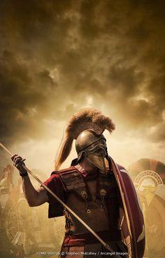 Sapartan warrior  © Stephen Mulcahey / Arcangel Images