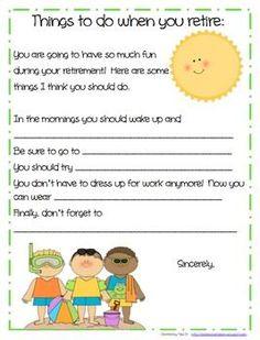 Retirement Booklet Class Gift for Retiring Teachers