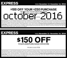 Free Printable Coupons: Express Coupons