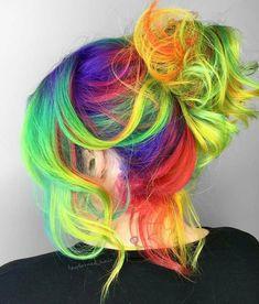 Vivid Hair Color, Pretty Hair Color, Beautiful Hair Color, Hair Dye Colors, Pelo Multicolor, Creative Hair Color, Hair Creations, Bright Hair, Dye My Hair
