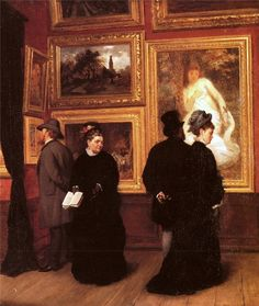A Müller : In the Picture Gallery.