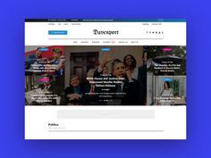Davenport News designed by Creanncy 👸. Grid Layouts, Best Web Design, News