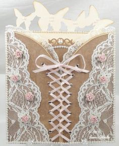 Happy New Year to all you wonderful crafters! When I was making this card with the Pazzles software, I certainly didn't intend for it to look like a woman's corset, but that is exactly…