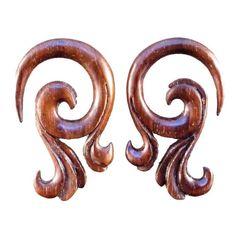 Celestial Talon. sono wood 4g body jewelry.