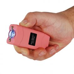 A rechargeable pink stun gun with flashlight is a choice of ladies for self defense at home, sports or outdoors.This mini personal security device use several million volts to immobilize an attacker. Amazon sells stun guns like Streetwise, Runt and Vipertek.