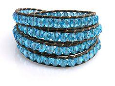 Wrap leather bracelet