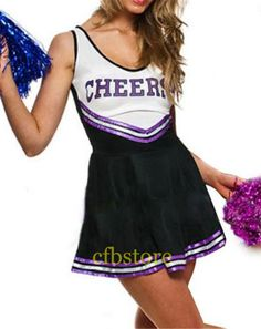 Kids Costumes & Accessories Kids Girls Cheerleader Costume School Girl Cosplay Costumes Sleeveless Round Neck Letters Cheer Printed Fancy Cheerleader Dress High Standard In Quality And Hygiene