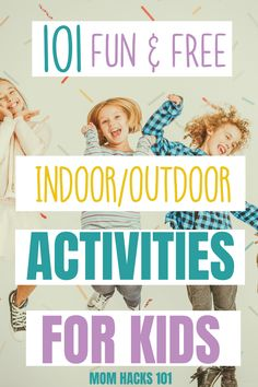 Stuck inside this list of fun indoor activities for kids has you covered! fun kid activities for in the home or outside that will keep the kids entertained! indooractivities kids kidsactivities free boredombuster 19 fun water games to enjoy this summer Indoor Activities For Toddlers, Summer Activities For Kids, Infant Activities, Fun Activities, Movement Activities, Kids Fun, 100 Fun, Kids House, Kids Playing
