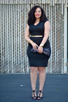 http://girlwithcurves.com/post/48916153159/little-black-peplum-dress  Little Black Peplum