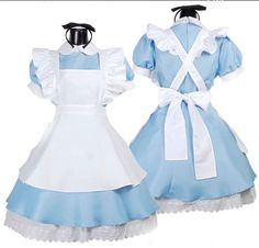 New Alice in Wonderland anime cosplay costume lolita dresses maid outfit Blue
