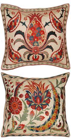 Uzbek pillows, hand embroidered