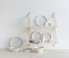 Pentik is an international interior design retailer, who wants to bring northern beauty and cosiness to homes. White Table Settings, Ladder Bookcase, Painting Techniques, Cave Painting, Shelves, Interior Design, Reindeer, Tableware, Room