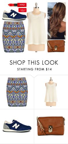 """""""#34"""" by vanessa-m-108 ❤ liked on Polyvore featuring Boohoo, New Balance and MICHAEL Michael Kors"""