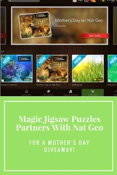 Magic Jigsaw Puzzles Partners With Nat Geo For A Fun Giveaway! Create, share and play with puzzles and enter to win!