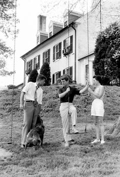 Jack,Bobby and Ethel at Hickory Hill,1957
