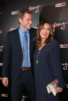 Mariska hargitay and peter Hermann, at #YoungerTv #Season4 Premiere #TeamCharles