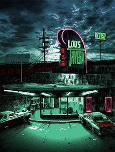 Fight Club - Famous Movie Locations Illustrations