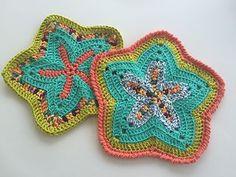 Super cute free crochet pattern for a starfish dishcloth/wash rag. Easy enough for a beginner I would think. Fun in bright cotton yarn.