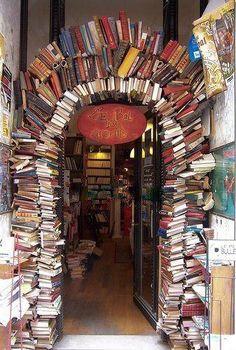 """Le Bal des Ardents"" in Lyon (Rue Neuve). A bookstore entrance in Lyon, France I Love Books, My Books, Read Books, Book Arch, Lyon France, Paris France, France Photos, Design Blog, Rhone"