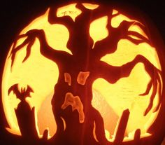Not sure about actually being able to do the face - but i love the tree with the willow-like branches. Halloween-Pumpkin-Carving-Inspiration-23