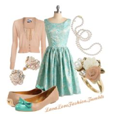Spring look; I'm wearing the dress (from modcloth.com) to a wedding in April!