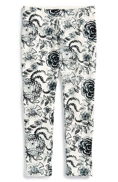 Tea Collection 'Watercolor Jacobean' Leggings (Toddler Girls, Little Girls & Big Girls) available at #Nordstrom