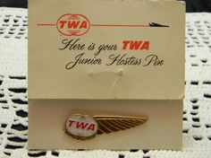 Vintage TWA Junior Hostess Pin metal with by VogelHausVintage, $12.00