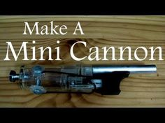 mini cannon out of a bbq lighter