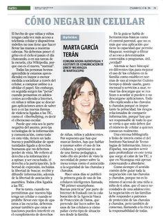 Cómo negar un celular, por Marta García Terán.