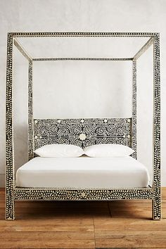 Bone Inlay Four Poster Bed - anthropologie.com