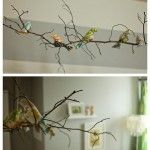 love the twig and birdies as a mobile