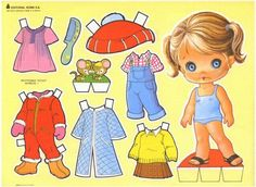 Paper dolls are figures cut out of paper, with separate clothes. All Paper dolls are different. Free paperdolls to print out and play wi. Paper Toys, Paper Crafts, Cardboard Crafts, Fabric Crafts, Paper Art, Paper Dolls Printable, Vintage Paper Dolls, Print And Cut, Free Paper