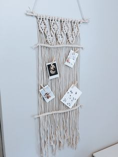 Macrame Pin Board Wall Hanging Macrame Pin Board Wall Hanging The Effective Pictures We Offer You Ab Photo Wall Hanging, Hanging Plant Wall, Craft Projects For Adults, Picture Hangers, Macrame Design, Macrame Projects, Crafts, Roomspiration, Apartment Kitchen