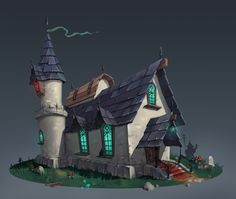 Mage House, Alexey Mazur on ArtStation at https://www.artstation.com/artwork/0vv34