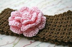 Crochet patterns, baby headband pattern, INSTANT DOWNLOAD crochet flower headband baby pattern (99)