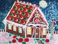 Carol Engles Art: Gingerbread house