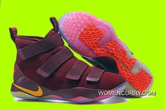 "online store c812c 71e33 Cheap Nike LeBron Soldier 11 ""Cavs"" PE Red Yellow Sale Discount"