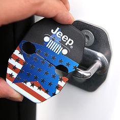 The Stars and Stripes UV Printed Door Lock Striker for Jeep WRANGLER CHEROKEE #BRICX