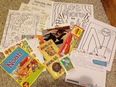 February Compassion letter package for Ningteuchangbe aged 5 in India. Easter colouring, Noah activities, gliders and animal stickers.