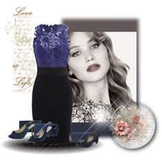 What shoes to wear with a navy dress by sole-divas on Polyvore featuring WeddingShoes and eveningshoes