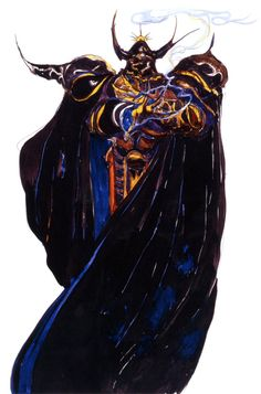 Final Fantasy IV - Golbez Concept Art - Yoshitaka Amano