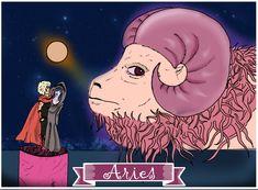 Aries, Signos del Zodiaco, dibujo, ilustración